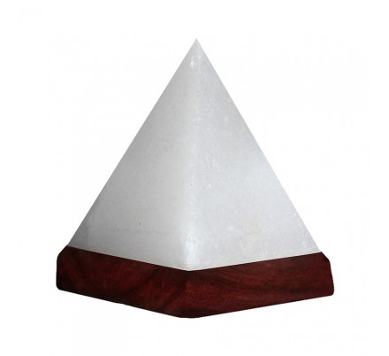 White Himalayan Rock Salt USB Pyramid Lamp