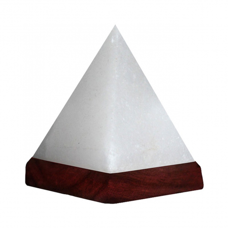 White Himalayan Rock Salt USB Pyramid Lamp (multicolor light) - Pack of 24 - Natures Artifacts