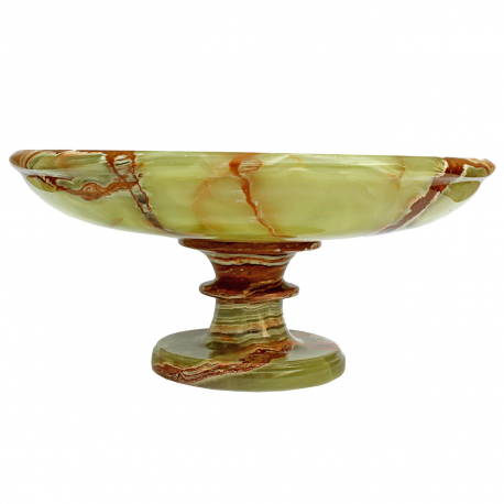 8 Multi Green Onyx Pedestal Fruit Bowl