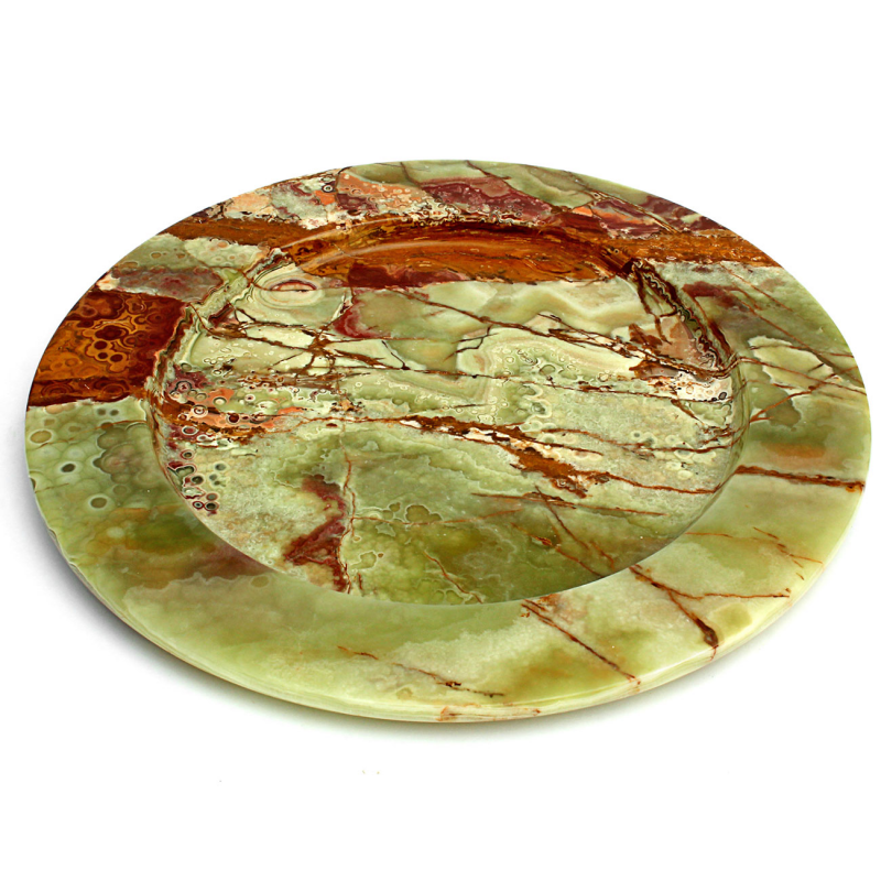 ... Multi Green Onyx Decorative Dinner Plates ...  sc 1 st  Natures Artifacts : green decorative plates - pezcame.com